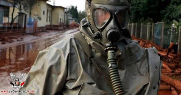 آثار استنشاق غازات كيميائية على جنود سوريين في دمشق