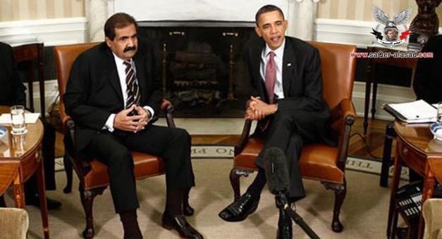 أمير قطر وأوباما