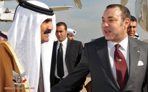 أمير قطر وملك المغرب