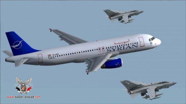 اعتراض طائرة مدنية سورية في السماء التركية بالطيران الحربي