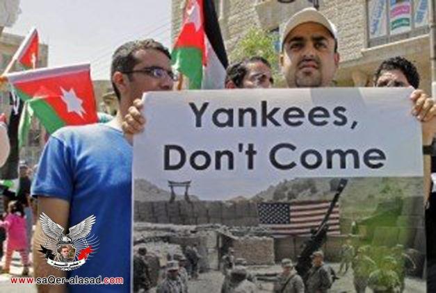 الاردن يشهد احتجاجات على تعزيز الحضور الامريكي العسكري في المملكة