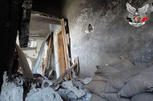 التدمير الذي خلفه الإرهابيون في مقام السيدة سكينة في داريا