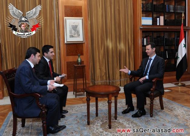 الرئيس الأسد لأولوصال أنا أعيش في سوريا والمخابرات التركية متورطة بدعم الإرهابيين