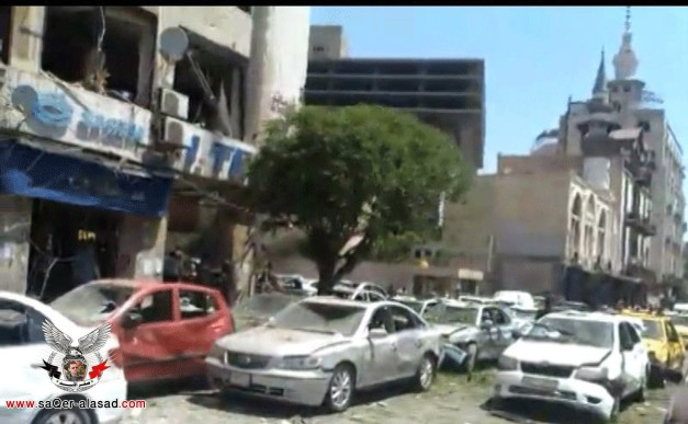 تفجير دمشق المرجة 30  4 2013
