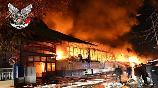 حريق في أنقرة