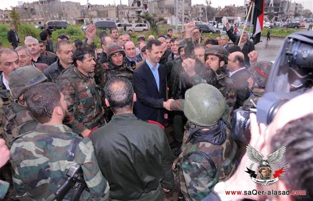 زيارة الرئيس بشار الأسد لحمص