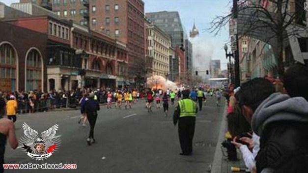 قتيلان و49 جريحا ببوسطن وانفجار ثالث في مكتبة كينيدي