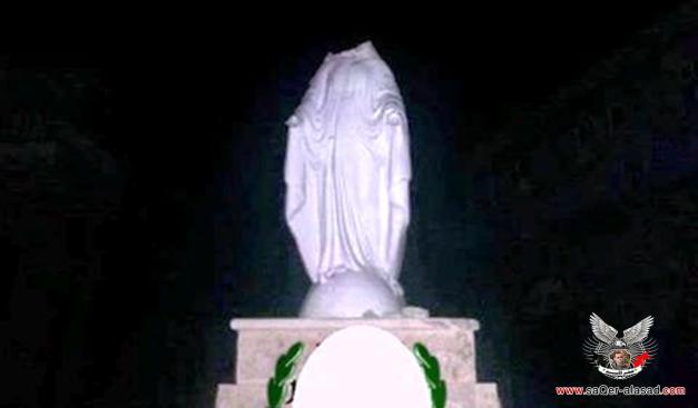 تمثال للسيّدة العذراء في منطقة القنية قرب جسر الشغور