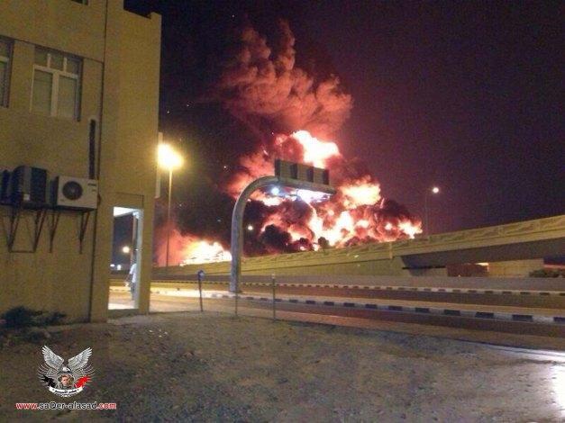 حريق ضخم في قطر