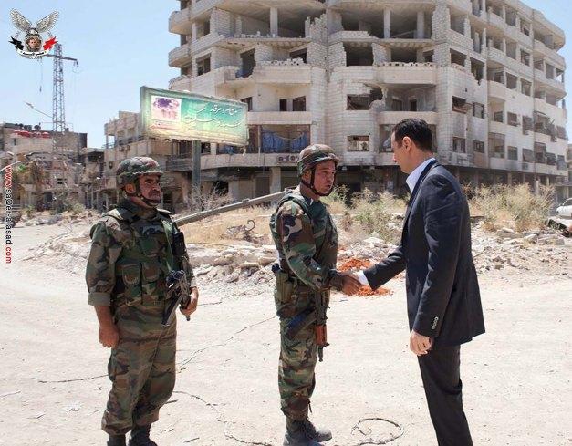 الرئيس القائد بشار الأسد في داريا