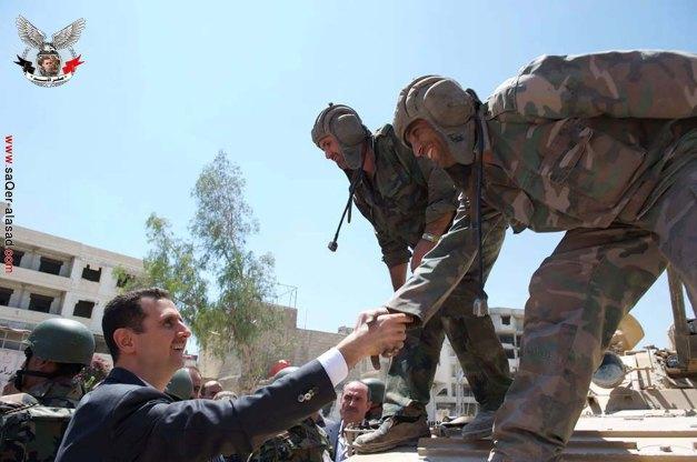 الرئيس المفدى بشار الأسد في داريا