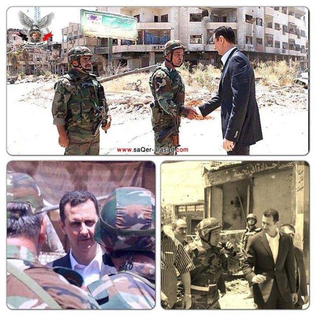 الرئيس بشار الأسد في داريا