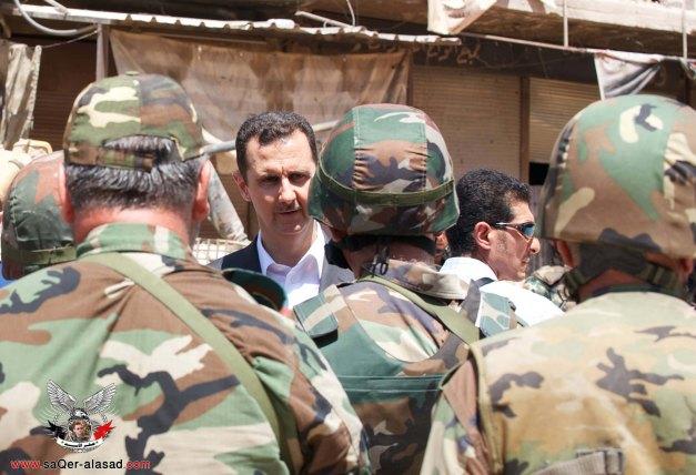 الفريق بشار الأسد في داريا