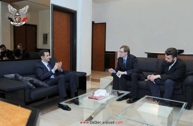 لقاء الرئيس الأسد مع صحيفة روسية ازفستيا