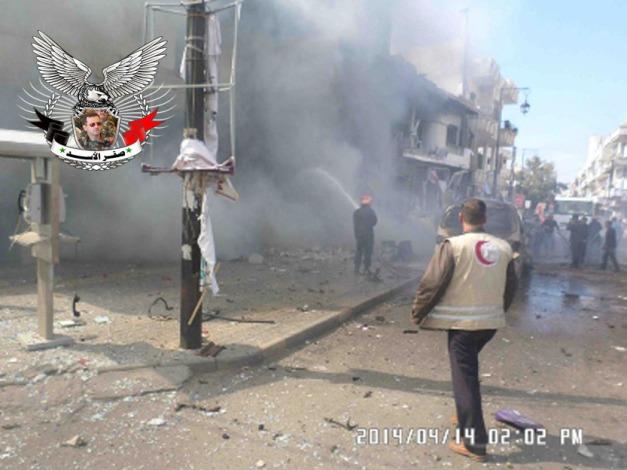 سيارة مفخخه في حمص